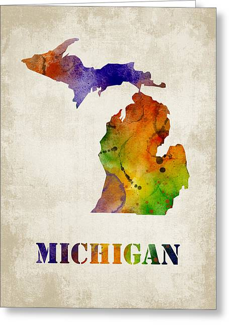 Michigan Greeting Card by Mihaela Pater