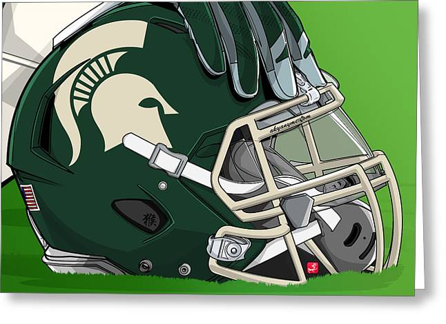 Michigan State College Football Greeting Card by Akyanyme