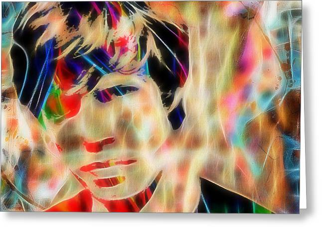 Jagger Greeting Cards - Mick Jagger Painting Greeting Card by Marvin Blaine