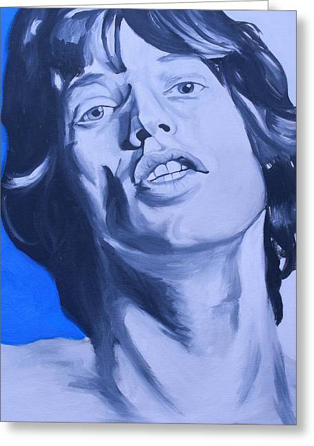 Mick Jagger Poster Greeting Cards - Mick Jagger Rolling Stones Portrait Greeting Card by Mikayla Henderson