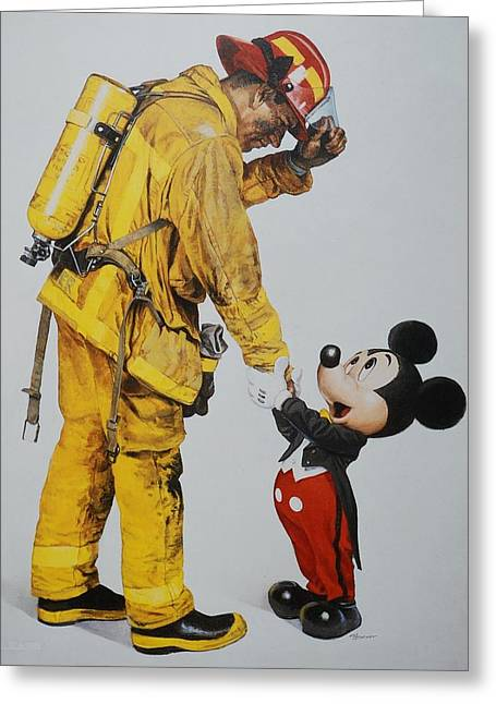 Mickey And The Bravest Greeting Card by Rob Hans