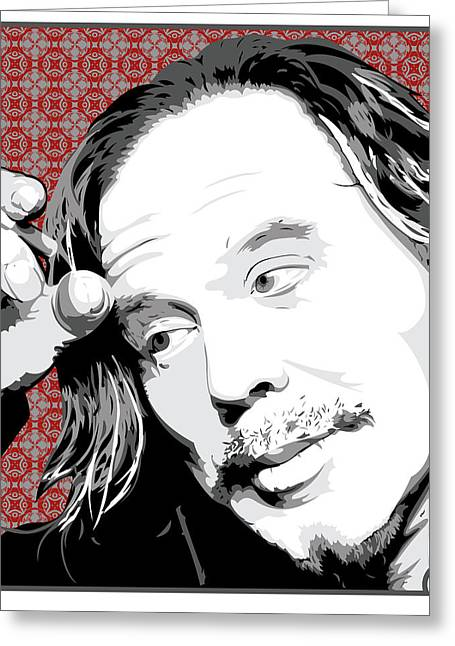 Mickey Rourke Greeting Card by Jeff Nichol