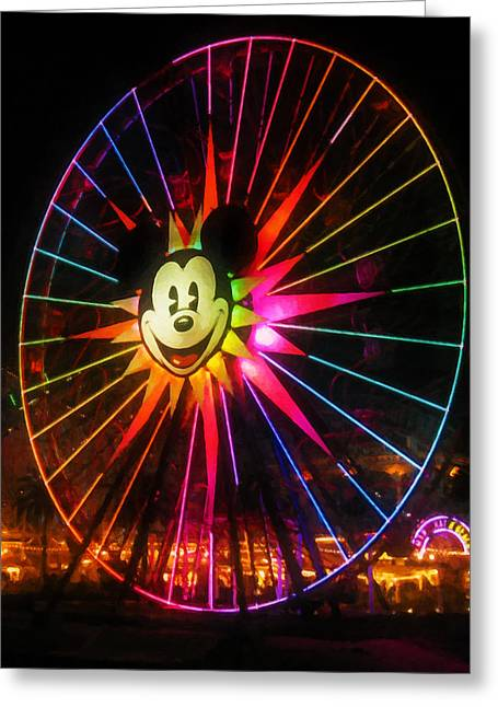 Mickey's Fun Wheel 1 Greeting Card by Lanjee Chee