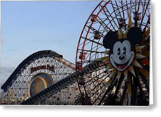 Mickeys Fun Wheel Greeting Cards - Mickeys Wheel Greeting Card by David Nicholls
