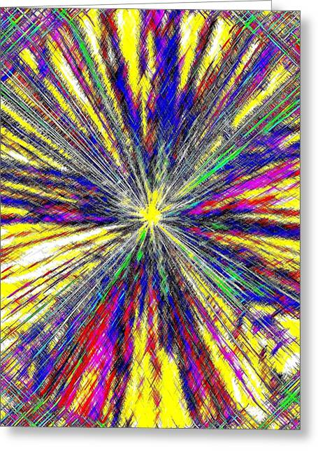Energize Greeting Cards - Micro Linear 17 Greeting Card by Will Borden