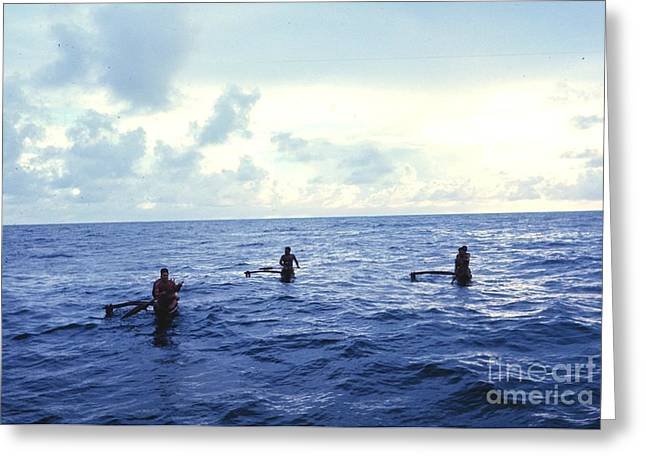 Noaa Greeting Cards - Micronesian Fishermen  Greeting Card by Celestial Images