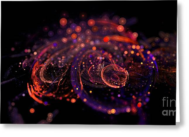 Microscopic Iv - Glass Jewels Greeting Card by Sandra Hoefer