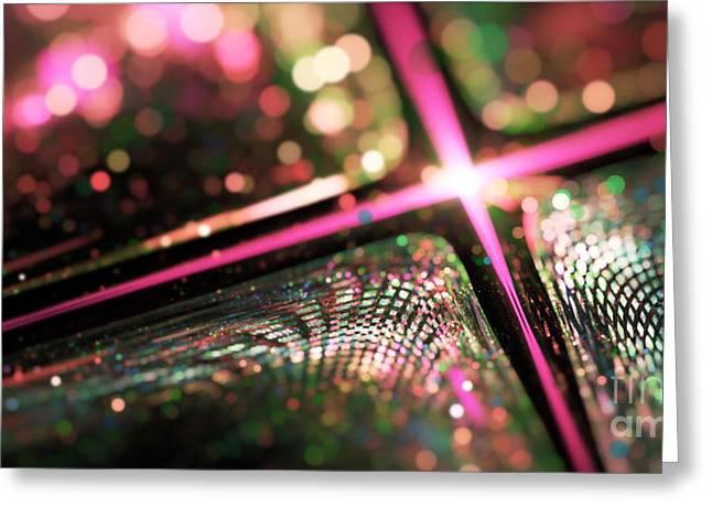 Microskopic Vi - Disco Fever Greeting Card by Sandra Hoefer