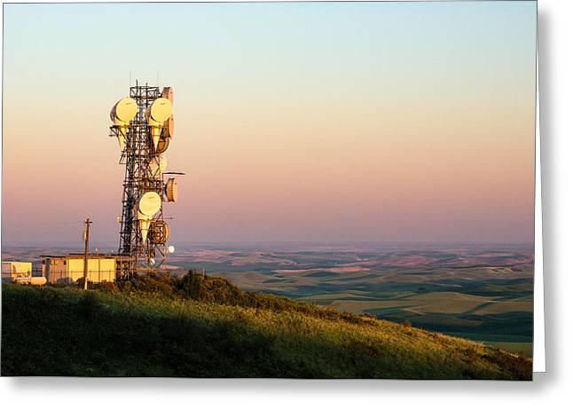 Microwave Tower Greeting Card by Todd Klassy