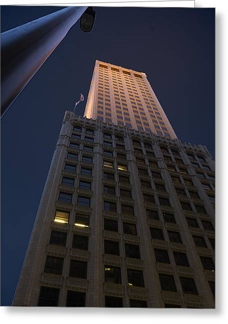 Tulsa Oklahoma. Architecture Greeting Cards - Mid-Continent Tower Greeting Card by William Oswald