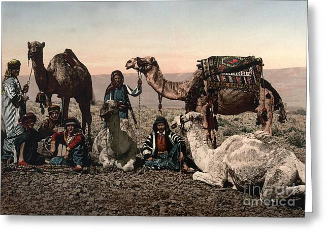 1890s Greeting Cards - Middle East: Travelers Greeting Card by Granger