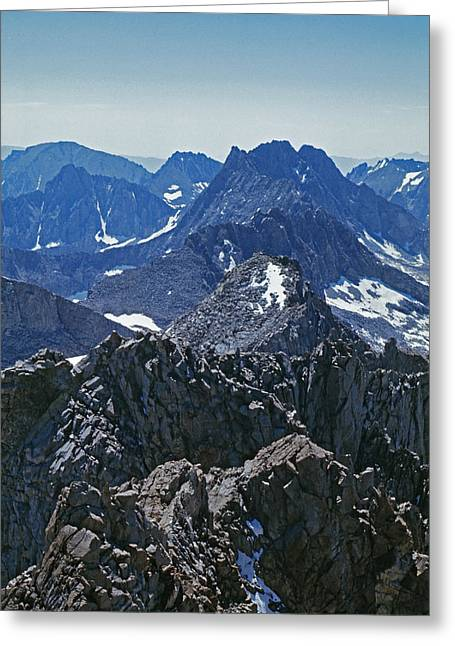 Kings Canyon Greeting Cards - Middle Palisade And The Palisade Crest Greeting Card by Gordon Wiltsie