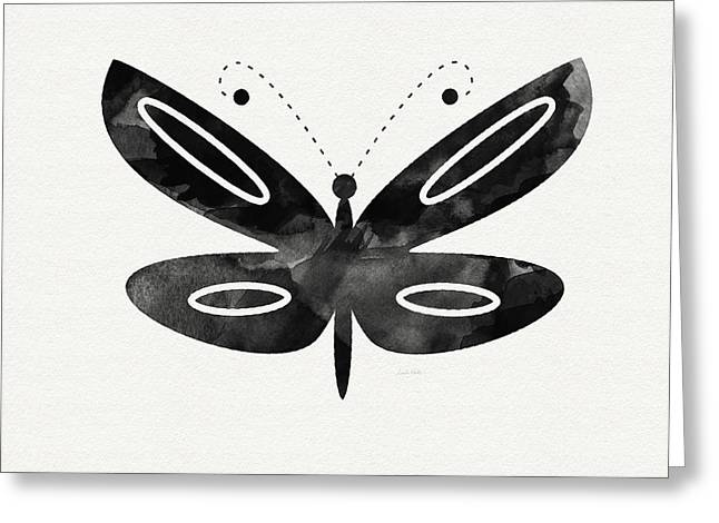 Midnight Butterfly 1- Art By Linda Woods Greeting Card by Linda Woods