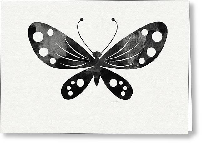 Midnight Butterfly 3- Art By Linda Woods Greeting Card by Linda Woods