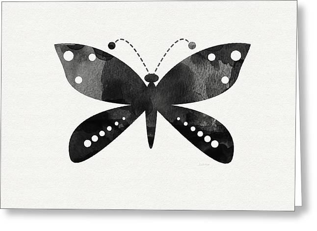 Midnight Butterfly 4- Art By Linda Woods Greeting Card by Linda Woods