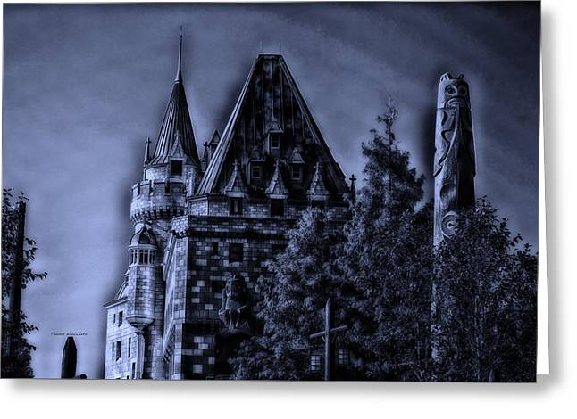 Princes Greeting Cards - Midnight By The Epcot Totem Poles Walt Disney World Greeting Card by Thomas Woolworth