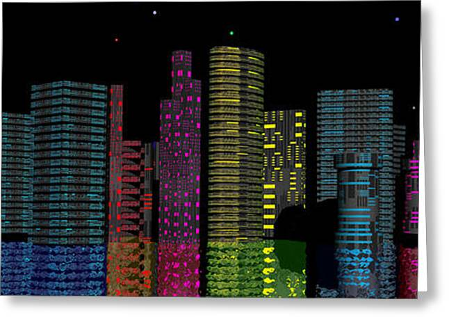 Eerie Greeting Cards - Midnight City Greeting Card by Mark Blauhoefer