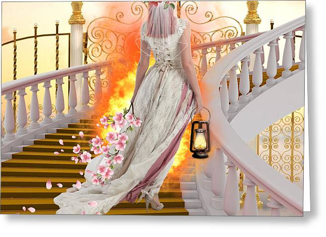 Pearly Gates Greeting Cards - Midnight Cry Greeting Card by Brenda Rich