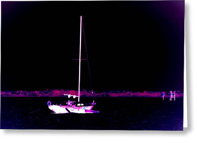 Fishing Boats Greeting Cards - Midnight Dream Greeting Card by Marilyn Holkham