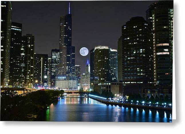 Theater Greeting Cards - Midnight in the Windy City Greeting Card by Frozen in Time Fine Art Photography