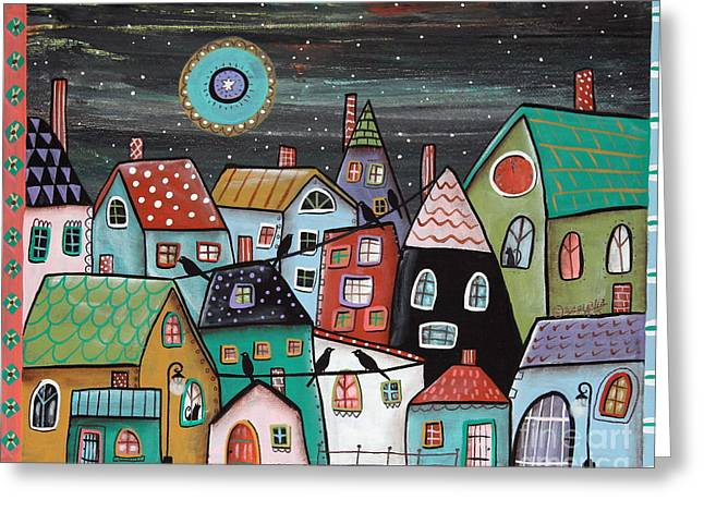 For Sale Greeting Cards - Midnight Greeting Card by Karla Gerard