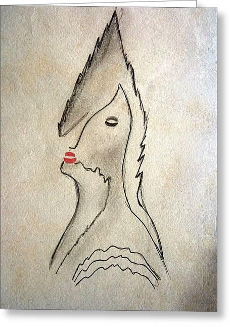 Midnight Kiss Greeting Card by Carlos Vieira
