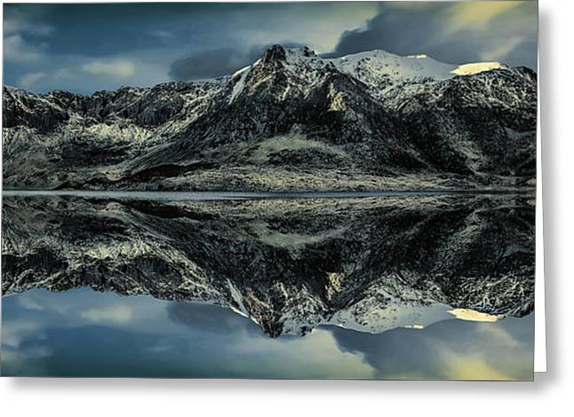 Midnight Lake Greeting Card by Adrian Evans