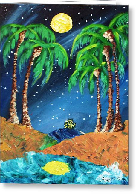 Twilight Pastels Greeting Cards - Midnight Paradise Greeting Card by Ifeanyi C Oshun