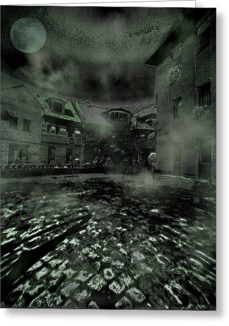 Ghastly Greeting Cards - Midnight Ramblings Greeting Card by Mimulux patricia no