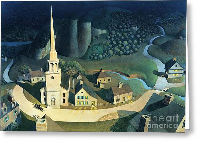 Midnight Ride Of Paul Revere Greeting Card by Pg Reproductions