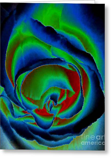 Intense Color Greeting Cards - Midnight Rose Greeting Card by Diane E Berry