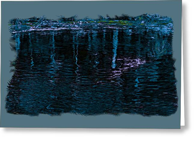 Aquatic Greeting Cards - Midnight Spring Greeting Card by John Bailey