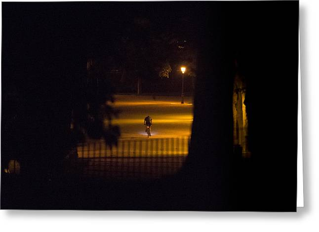 Candle Lit Greeting Cards - Midnight walk Greeting Card by Hugo Gustavo Sanchez Romero