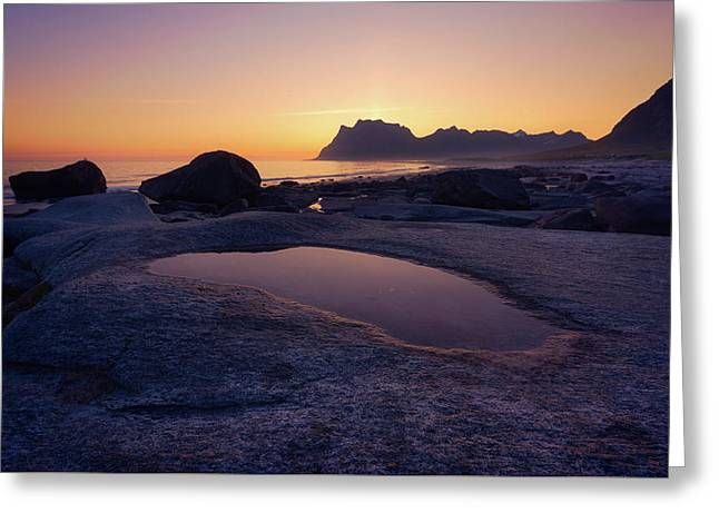 Midnightsun Observer Greeting Card by Tor-Ivar Naess