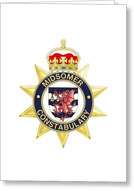 Midsomer Constabulary Greeting Card by David Baker Jacobs