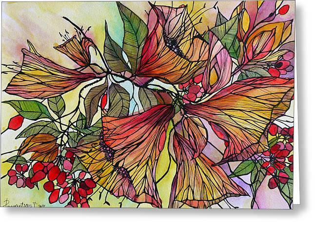 Floral Artist Greeting Cards - Midsummer Day Greeting Card by Irina Rumyantseva