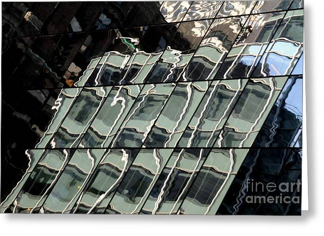 Mike Lindwasser Photography Greeting Cards - Midtown reflective Greeting Card by Mike Lindwasser Photography