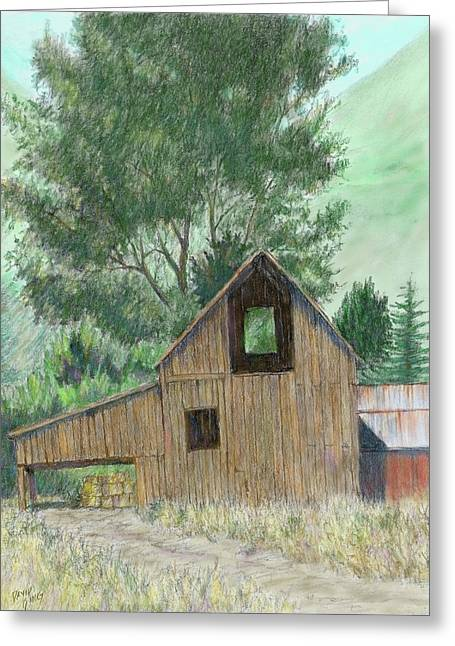Midway Barn Colorized Greeting Card by David King