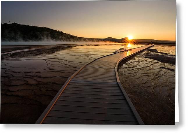 Alga Greeting Cards - Midway Basin Sunset Greeting Card by Dan Mihai