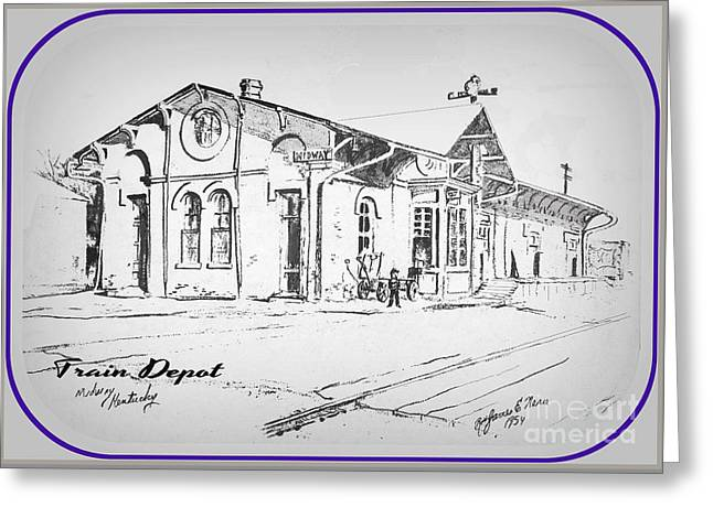 Occasion Drawings Greeting Cards - Midway Depot Greeting Card by David Neace