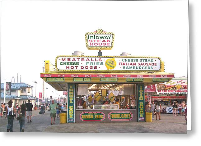 Midway Steak House - The Boardwalk At Seaside Greeting Card by Bob Palmisano