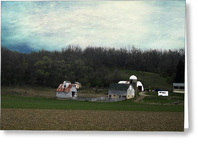 Shed Mixed Media Greeting Cards - Midwest Country Living Textured 01 Greeting Card by Thomas Woolworth
