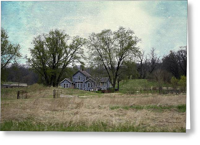 Shed Mixed Media Greeting Cards - Midwest Country Living Textured 02 Greeting Card by Thomas Woolworth