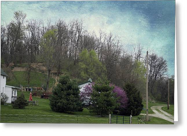 Shed Mixed Media Greeting Cards - Midwest Country Living Textured 03 Greeting Card by Thomas Woolworth