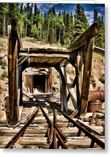 Old Mine Greeting Cards - Midwest Mine Greeting Card by Lana Trussell