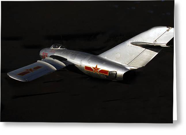 Jet Star Greeting Cards - MiG Greeting Card by David Lee Thompson