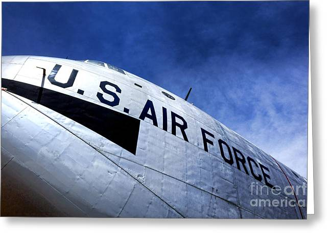 Fuselage Greeting Cards - Mighty US Air Force  Greeting Card by Olivier Le Queinec