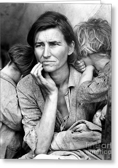 Great Mother Greeting Cards - Migrant Mother, 1936 Greeting Card by Granger