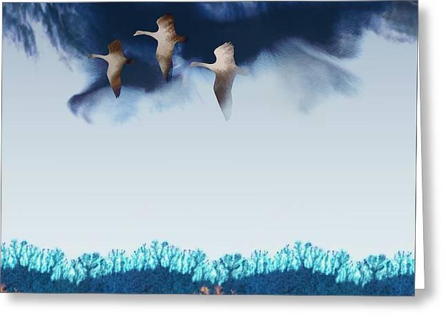 Migration Greeting Card by Varpu Kronholm