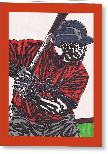 Miguel Caberera 1 Greeting Card by Jeremiah Colley